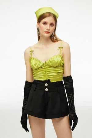 Nana Jacqueline Tops | Womens Only Hearts  Bow Top Black